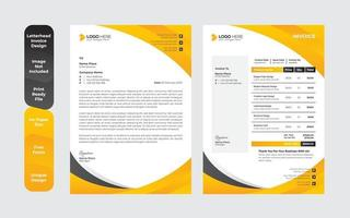 Creative Abstract letterhead Design template