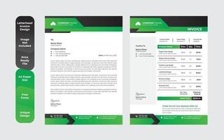 Conjunto de diseño de plantilla de membrete profesional corporativo abstracto vector