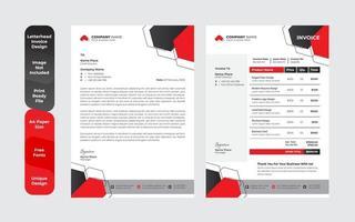 Unique business style letterhead design template set vector