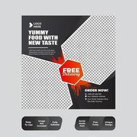 Food Menu Banner Template Social Media vector