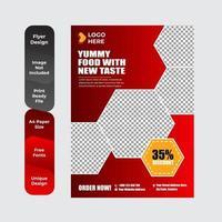 Restaurant menu, brochure, flyer design templates vector