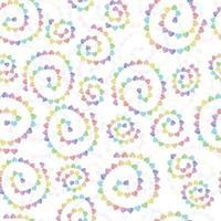 Fondo de patrón de decoración perfecta con línea de corazón multicolor