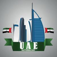fondo de vacaciones del día nacional de los emiratos árabes unidos vector
