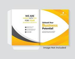 Presentation Folder Design Template vector