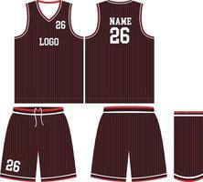 maquetas de uniformes de baloncesto de diseño personalizado vector