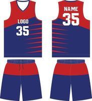 uniforme de baloncesto diseño personalizado camiseta deportiva vector