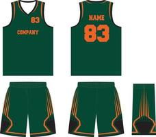ilustraciones de uniformes de baloncesto de diseño personalizado vector