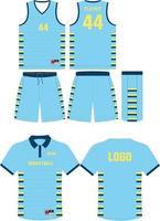 diseño de maqueta de uniforme de baloncesto vector