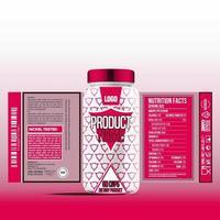 etiqueta de botella, diseño de plantilla de paquete, diseño de etiqueta, plantilla de etiqueta de diseño simulado vector