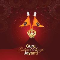fondo de celebración guru gobind singh jayanti vector