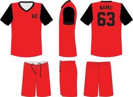 uniformes de baloncesto de manga corta vector