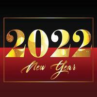 feliz año nuevo 2022 tarjeta de celebración con purpurina vector