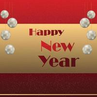 feliz año nuevo diseño de texto dorado vector
