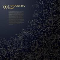 diseño de mapa topográfico abstracto con espacio para el texto.