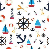 nautical seamless pattern, perfect for background or gift wrapping vector