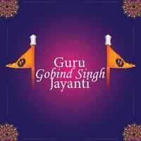 feliz tarjeta de felicitación de gurpurab vector