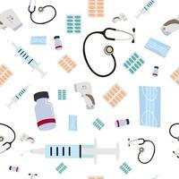 Covid 19 de patrones sin fisuras, perfecto para el fondo de la industria de la salud vector
