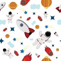 space seamless pattern perfect for background or kid's room wallpaper vector