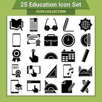 25 conjunto de iconos de educación