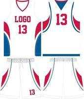 Custom Design basketball t-shirt uniform kit vector