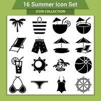 colección de artículos de playa de verano vector