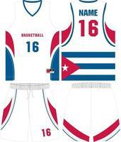 kit de uniformes de baloncesto de diseño personalizado vector