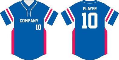 Baseball t-shirt mock up Front and back vector