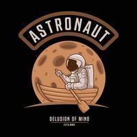 astronaut delusion of mind.premium vector