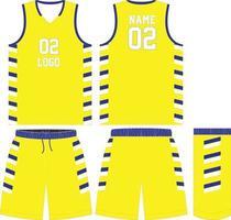 diseño de camiseta de baloncesto conjunto de kit vector