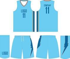 pantalones cortos de jersey de uniforme de baloncesto diseños personalizados vector