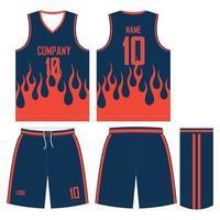diseños personalizados pantalones cortos de jersey de uniforme de baloncesto vector