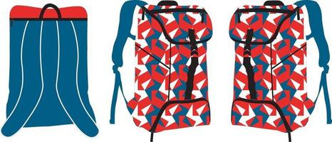 mochilas deportivas mock ups vector