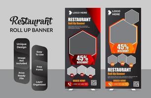 Roll up banner design template conjunto de diseño abstracto vector