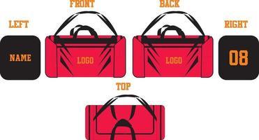 Plantillas de diseño deportivo de bolsa de lona vector