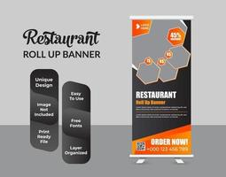 Roll up banner design template diseño abstracto vector