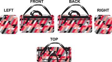 diseño deportivo de bolsa de lona personalizada vector
