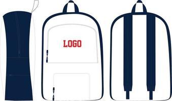maquetas de mochilas y bolsas de ropa deportiva para hombres vector