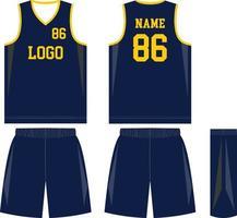 uniformes de baloncesto de diseño personalizado pantalones cortos de jersey deportivo vector