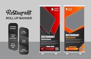 Roll up banner design template modern x-banner set