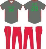 maquetas de uniformes de jersey de béisbol de diseño personalizado vector