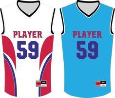 maquetas de camisetas de baloncesto vector