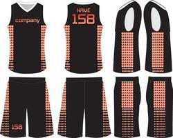 camiseta y pantalones cortos de baloncesto femenino vector
