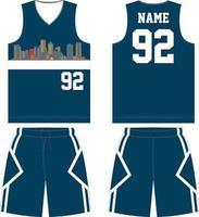 conjunto de uniformes de diseño de camiseta de baloncesto vector