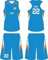 uniformes de baloncesto de diseño personalizado camiseta deportiva con pantalones cortos vector