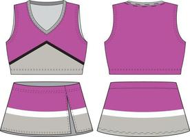 uniforme de animadora sin mangas con cuello en v sublimado vector