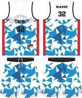 plantilla de conjunto de camiseta de baloncesto vector