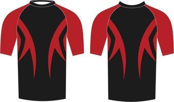 camisas de compresión para hombres maqueta de diseño personalizado vector