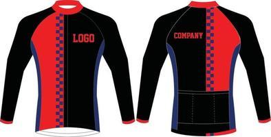 camisetas de ciclismo personalizadas diseños de manga completa vector