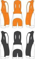 culotte y ropa de ciclismo vector