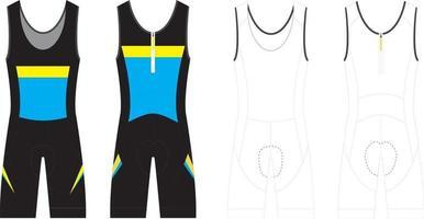 traje de piel sin mangas de triatlón ciclismo vector